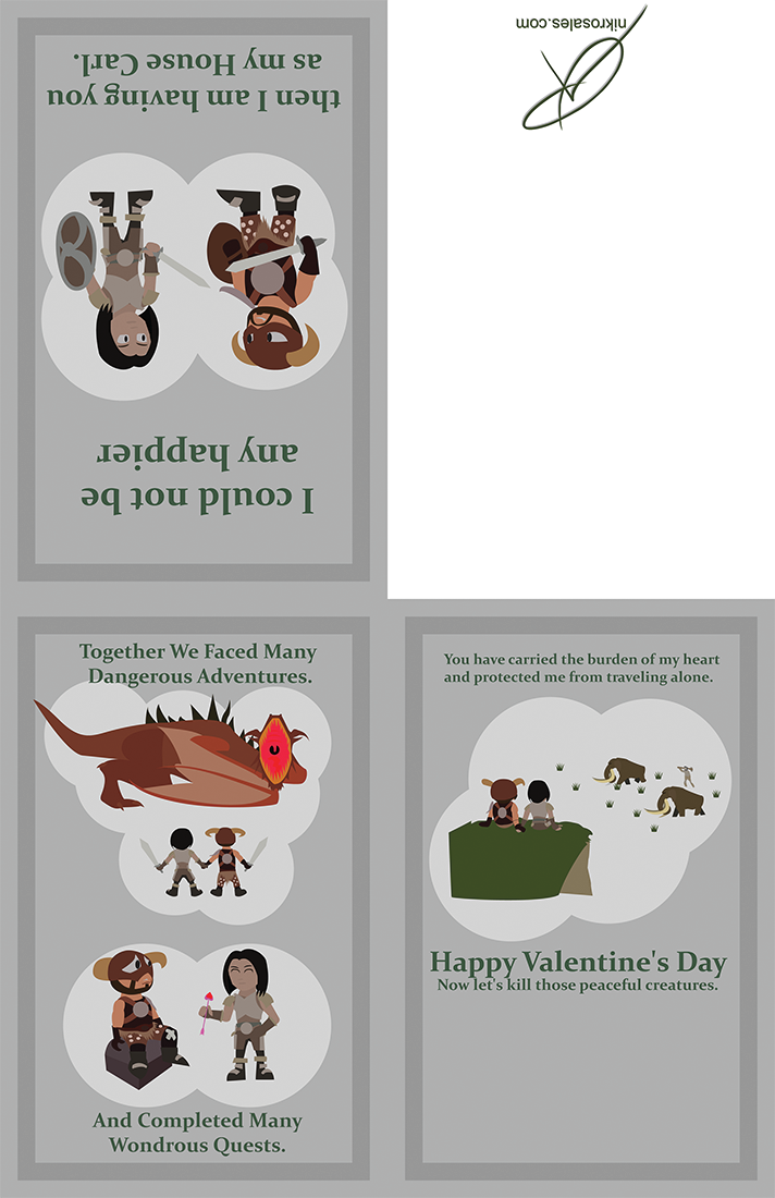 Valentines Day Cards Ineedmorcowbell – Skyrim Valentines Cards